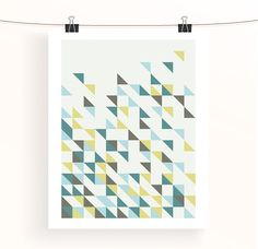Instant download  Geometric print  triangle abstract by madebyaiza, £3.50
