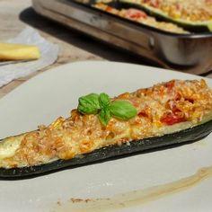 14 töltött cukkini, amit te is el akarsz majd készíteni! Polenta, Macaroni And Cheese, Zucchini, Side Dishes, Lunch, Vegetables, Ethnic Recipes, Food, Mac And Cheese