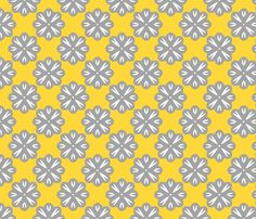 White and Gray Flowers fabric by klingercreative on Spoonflower - custom fabric