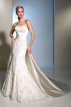 $66.19, [Lace Masturbator Sleeves Wedding Dress] Organza Strapless No Back…