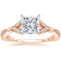 14K Rose Gold Zinnia Diamond Ring (1/3 ct. tw.) from Brilliant Earth