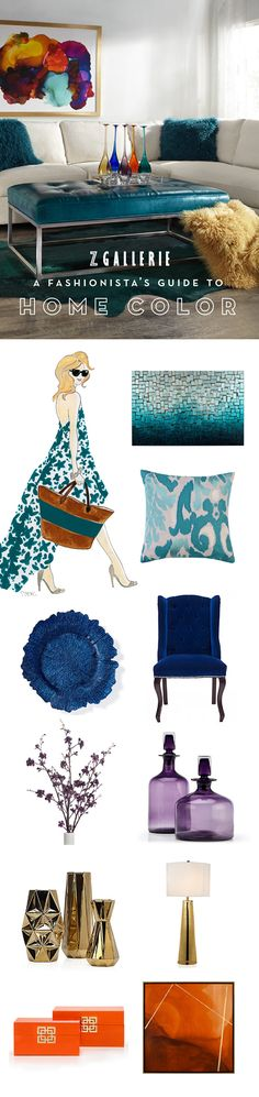 Discover this season's hues and their complementary palettes to help you infuse fresh color into your home. Browse our Fashionista's Guide to Home Color on zgallerie.com!
