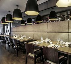 LEMAYMICHAUD | Les Labours | Architecture | Design | Hospitality | Eatery | Restaurant | Dining Room | Quebec | Restaurant, Architecture Design, Conference Room, Table, Furniture, Home Decor, Homemade Home Decor, Architecture Layout, Diner Restaurant