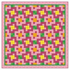 The easy-to-follow pattern instructions included make this complicated-looking Studio Double Pink Posies Quilt easy. You'll have a pretty posy quilt finished in no time! Watch the Video on How to Download PatternsPattern Downloads are best viewed using the latest versions of Adobe Reader and Internet Explorer . Compatible with this fabric cutter:Studio*