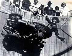 Lillian LaFrance (1894-1979) was one of the first and most popular female wall of death riders of the 1920s and '30s.