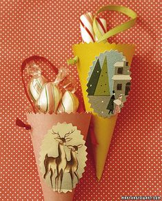 Recycled Christmas Card Crafts : With simple household items, you can transform the holiday cards of the past into Christmas decorations of the present -- and create your family's own little recycling center in the process. Christmas Card Crafts, Old Christmas, Simple Christmas, Holiday Crafts, Christmas Holidays, Christmas Ornaments, Christmas Ideas, Holiday Fun, Recycled Christmas Decorations