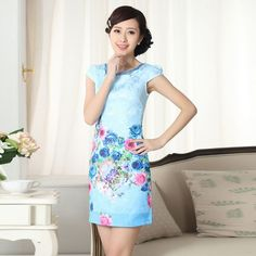 Nice Great Aliexpress.com : Buy 2015 Summer Style Sexy Cotton Ladies Cheongsam Dress Chinese Style Women's Chinese Dress Girls Party Dresses G from Reliable Dresses suppliers on My Store-Women' Wardrobe  | Alibaba Group Check more at http://myfashiony.com/2017/great-aliexpress-com-buy-2015-summer-style-sexy-cotton-ladies-cheongsam-dress-chinese-style-womens-chinese-dress-girls-party-dresses-g-from-reliable-dresses-suppliers-on-my-store-women-wardrobe/