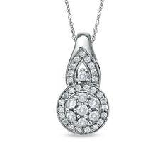 1 CT. T.W. Diamond Composite Pendant