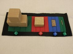 Using the place value dice, roll the numerals and fetch that quantity from the bank. (shown with the number composition mat)