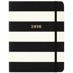 Kate Spade Stripe Agenda 2016 ($35) ❤ liked on Polyvore featuring home, home decor and stationery
