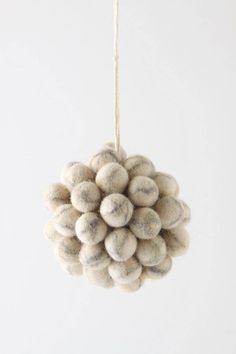 boiled wool ornament.  anthoropologie