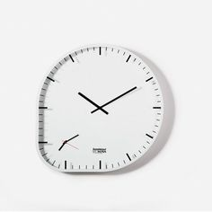 subtle decisions transform a design from absolute minimalism to biomorphism. TWO TIMER clock. DESIGNER: SAM HECHT