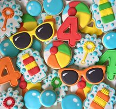 Bubbles summer pool party cookies