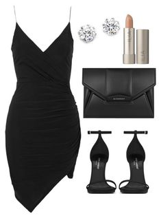 """""""◾️⬛️⬛️"""" by amoney-1 ❤️ liked on Polyvore featuring Topshop, Kenneth Jay Lane, Givenchy, Yves Saint Laurent and Ilia"""