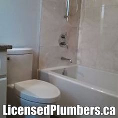 http://LicensedPlumbers.ca for new bathroom #renovations , 4 pieces.  Sink, toilet, bathtub and shower. #MississaugaPlumber #MississaugaPlumbing #MississaugaBathroomRenovations