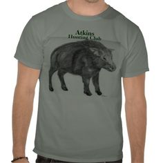 Wild Boar Shirt from Zazzle.com I designed this for my FIL who hunts - he didn't like cartoony boars on his shirts. Now this is his fave shirt! Also sold a few to Australia - pig hunting must be big there too.