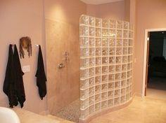 Tabique de ducha de pavés