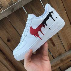 Top 10 Nike Air Force 1 Custom Kicks - Page 4 of 10 - WassupKicks Moda Sneakers, Cute Sneakers, Sneakers Nike, Custom Painted Shoes, Custom Shoes, Nike Custom, Custom Tennis Shoes, Custom Af1, Jordan Shoes Girls
