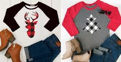 Holidays and Plaid are the perfect pair! Grab these cute tee's for only $15.99!
