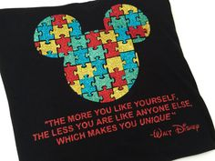 Mickey Inspired Autism Awareness Glitter Shirts- 16 Different Shirt Styles for babies to adults