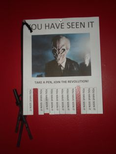 this was a pinterest idea...those who hadn't seen the show did not quite get it...but we thought it was brilliant!