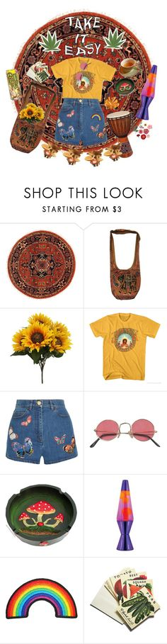 """""""my love she laughs like the flowers"""" by queercorruption ❤ liked on Polyvore featuring Valentino, Lava and Beekman 1802"""