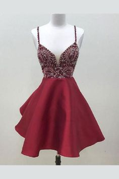 9c7b8733ef High Low Halter Criss Cross Back Burgundy Homecoming Dress