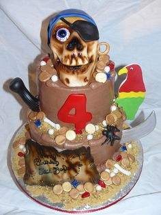 Ahoy Matey Pirate Cake