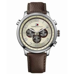 Relógio Tommy Hilfiger Masculino Couro Marrom- 1790767
