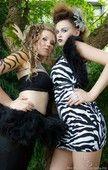 Hair by Melody(zebra) and Laura(tiger)  MUA Rebecca  Models: Bridgette(tiger) and Christina(zebra)  PHOTO: http://blackdogphotography.biz/  Accessories: https://www.facebook.com/itemsbytinamarie