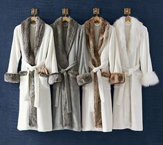 **** Going to attempt sewing these Cozy Fur Robe without Hood @ Pottery Barn ***USING Simplicity Pattern #1562 (there is a hooded version also at PB) these are $119.