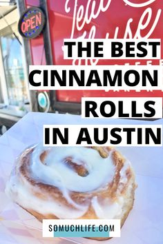 Who loves big, gooey cinnamon rolls for breakfast? I tried all of the cinnamon rolls in Austin, and here's my Gide to the very best ones! This is perfect for you if you're visiting Austin and you want to find some really good Austin breakfast spots.