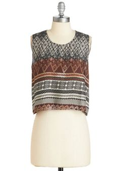 ModCloth Boho Short Length Sleeveless Life is But a Breeze Top
