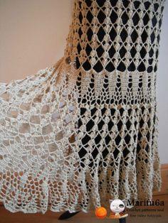 Crochet Skirts Free crochet patterns and video tutorials: How to crochet maxi skirt Crochet Bodycon Dresses, Black Crochet Dress, Crochet Skirts, Crochet Clothes, Skirt Pattern Free, Crochet Skirt Pattern, Crochet Patterns, Tutorial Crochet, Flower Patterns