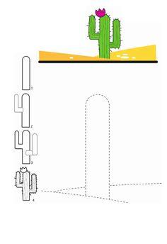 Cactus tekenen / Cómo dibujar un cactus