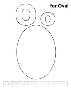 O for oval coloring page with handwriting practice
