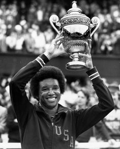 Arthur Ashe becomes the first African-American male to win Wimbledon. #1975