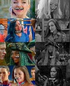 Disney Descendants Characters, Mal Descendants, Disney Channel Descendants, Dove Cameron, China Anne Mcclain, Disney Decendants, Funny Disney Jokes, Sofia Carson, Marvel Films