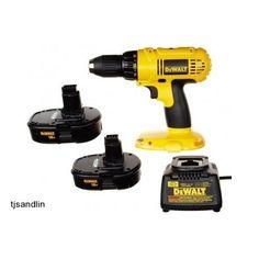 Cordless Drill Driver Kit Dewalt 18-Volt Compact Tools Construction Rechargeable #DeWalt #cordlessdrilldriver