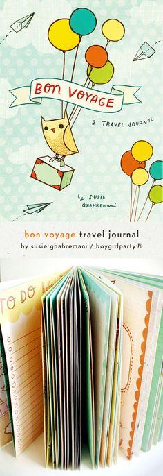 Bon Voyage Travel Journal by Susie Ghahremani / boygirlparty.com – from http://shop.boygirlparty.com