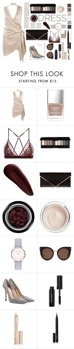 """""""Choker dress"""" by r-bye ❤ liked on Polyvore featuring Boohoo, Butter London, Fleur of England, Seed Design, Surratt, Givenchy, Giorgio Armani, Dr. Sebagh, Abbott Lyon and STELLA McCARTNEY"""