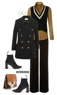 """""""60-Second Style: Job Interview'"""" by dianefantasy ❤ liked on Polyvore featuring Armani Collezioni, LE3NO, Palm Beach Jewelry, Chloé, Banana Republic, polyvorecommunity, jobinterview, polyvoreeditorial and 60secondstyle"""