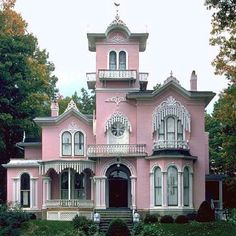 I Want A Pink House Will Have This Would Be To Start Out Cuz My Dream Home Must Little Less Old Victorian And More Modern