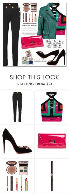 """""""Outfit of the Day"""" by jan31 ❤ liked on Polyvore featuring Balmain, Victoria Beckham, Christian Louboutin, Charlotte Tilbury, Smith & Cult and TIBI"""