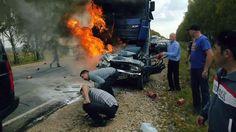 ДТП жесть (человек сгорел заживо)