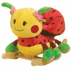 Rockabye Lulu Ladybug Rocker Baby Rocking Horse Children's Ride 0N Toy Kids New | eBay