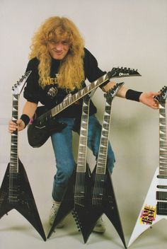 Dave Mustaine (May,1989,BURRN! Poster)