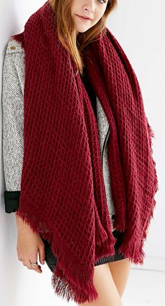 waffle brushed blanket scarf  http://rstyle.me/n/vj7q6pdpe