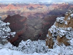 #Fotography #Snow #USA #GrandCanyon Grand Canyon, Snow, Usa, Nature, Travel, Scenery, Naturaleza, Viajes, Destinations