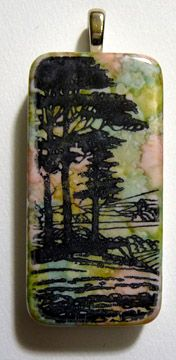 tree domino rubber stamp alcohol inks tutorial